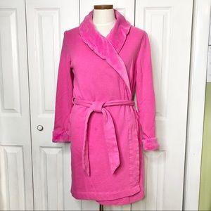 Victoria's Secret plush wraparound pink bathrobe